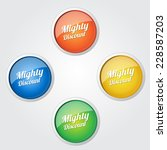 mighty discount colorful vector ... | Shutterstock .eps vector #228587203
