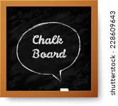 realistic black chalkboard with ... | Shutterstock . vector #228609643