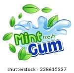mint gum | Shutterstock .eps vector #228615337