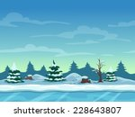 seamless cartoon winter...