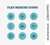flat icons collection. marine...