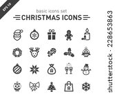 christmas icons set. | Shutterstock .eps vector #228653863