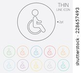 disabled sign icon. human on... | Shutterstock . vector #228657493