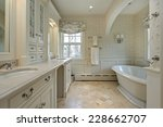 master bath in luxury home with ... | Shutterstock . vector #228662707