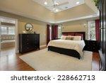 master bedroom in luxury home... | Shutterstock . vector #228662713