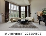 large family room with two... | Shutterstock . vector #228664573