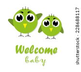 welcome baby card. vector... | Shutterstock .eps vector #228688117