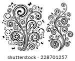 set of two vector floral...   Shutterstock .eps vector #228701257