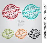 vector   colorful exclusive... | Shutterstock .eps vector #228702727