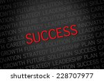 a red color success word cloud | Shutterstock . vector #228707977