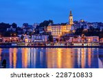 Panorama Of Belgrade At Night...