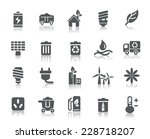 environmental protection icons | Shutterstock .eps vector #228718207