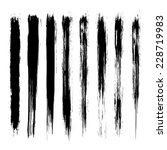 vector set of grunge brush... | Shutterstock .eps vector #228719983
