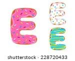 sweet donut font vector. letter ... | Shutterstock .eps vector #228720433