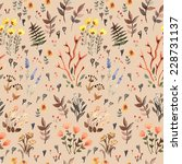 herbal watercolor seamless.... | Shutterstock .eps vector #228731137