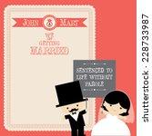 wedding couple cartoon card...