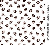 seamless pattern with paw... | Shutterstock .eps vector #228741337