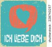 Love Poster In German. Retro...