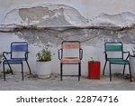 greek chairs | Shutterstock . vector #22874716