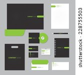 stationery template design.... | Shutterstock .eps vector #228755503