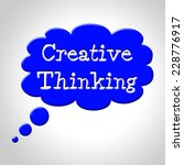 creative thinking bubble... | Shutterstock . vector #228776917