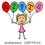 gifts balloons showing greeting ... | Shutterstock . vector #228779113