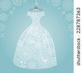 bridal shower dress winter... | Shutterstock .eps vector #228787363