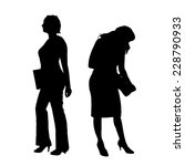 vector silhouette of a... | Shutterstock .eps vector #228790933