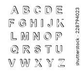vector alphabet set for design | Shutterstock .eps vector #228794023