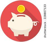 piggy bank icon  flat design...   Shutterstock .eps vector #228807133