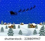 evening landscape at christmas | Shutterstock . vector #228809947