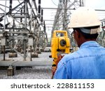 surveyor engineer on the... | Shutterstock . vector #228811153
