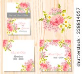 wedding invitation cards with... | Shutterstock .eps vector #228814057