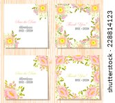 wedding invitation cards with... | Shutterstock .eps vector #228814123