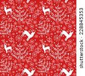 graffic vector seamless pattern ... | Shutterstock .eps vector #228845353
