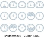 set of fifteen flat  simple ... | Shutterstock .eps vector #228847303
