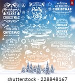 hand drawn christmas and new... | Shutterstock .eps vector #228848167