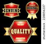 premium quality vintage labels... | Shutterstock .eps vector #228856237