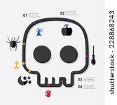 halloween infographic   Shutterstock . vector #228868243