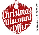 christmas discount offer grunge ... | Shutterstock .eps vector #228879307