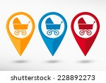 baby pram stroller sign icon.... | Shutterstock .eps vector #228892273