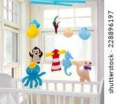 baby mobile   kids toys | Shutterstock . vector #228896197