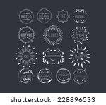 vintage frames  scroll elements ... | Shutterstock .eps vector #228896533