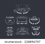 vintage frames  scroll elements ... | Shutterstock .eps vector #228896707