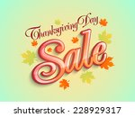 sale poster  banner or flyer... | Shutterstock .eps vector #228929317