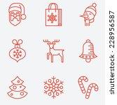 Christmas Icons  Thin Line...