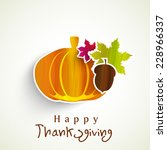 happy thanksgiving day sticker  ... | Shutterstock .eps vector #228966337