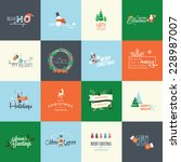 set of flat design elements for ... | Shutterstock .eps vector #228987007