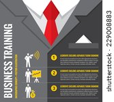 business training   infographic ... | Shutterstock .eps vector #229008883