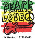doodle icon grunge peace  love... | Shutterstock .eps vector #229031443